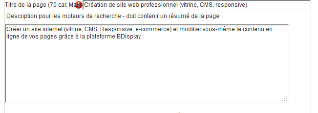exmple de description d'une page